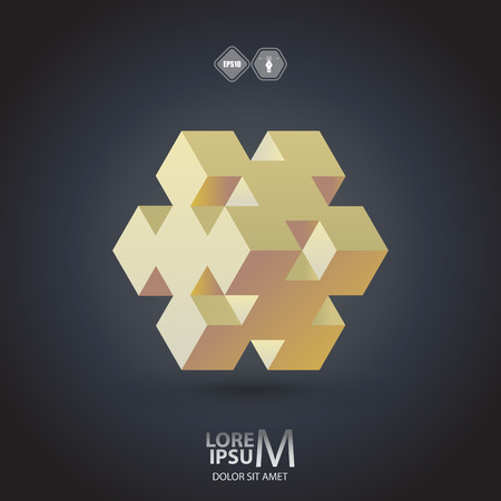 wealth abstract: Cube logo, logic icon. Vector