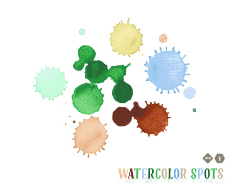 smeared hand: watercolor spots Illustration