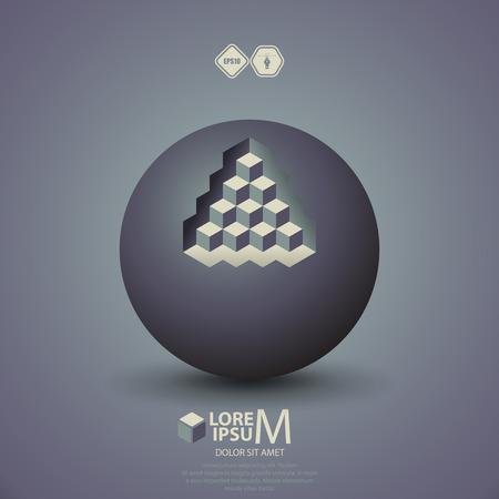 pyramidal: pyramid on sphere  Illustration