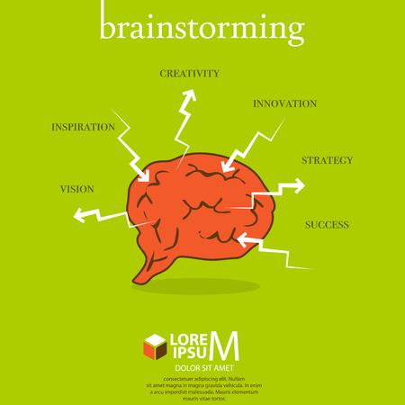 mind map: Brainstorming scheme illustration Illustration