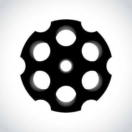 chambers: Revolver drum on white illustration