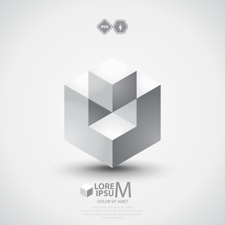 3D cube design.
