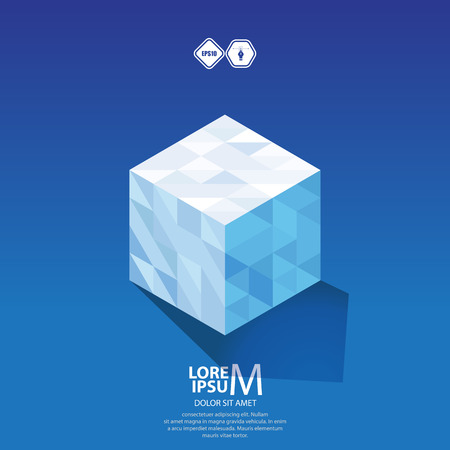 logic: Cube logic icon. Illustration
