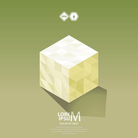 logica: Icono de la lógica del cubo.