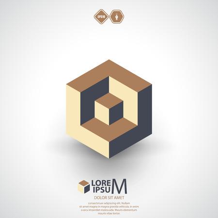 logica: Icono de la l�gica del cubo.