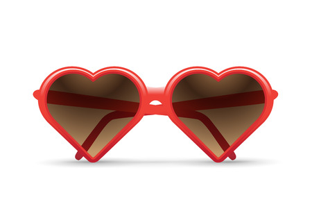 heart sunglasses illustration
