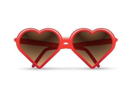 fashion sunglasses: heart sunglasses illustration