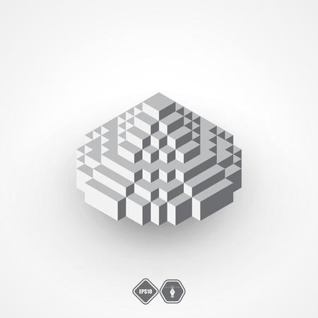 pyramidal: Pyramid logotype, icon.