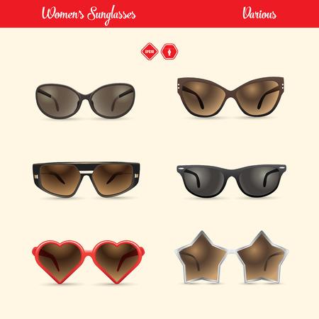 ladies sunglasses set Vector