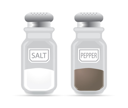 shakers: Salt and pepper shaker, vector