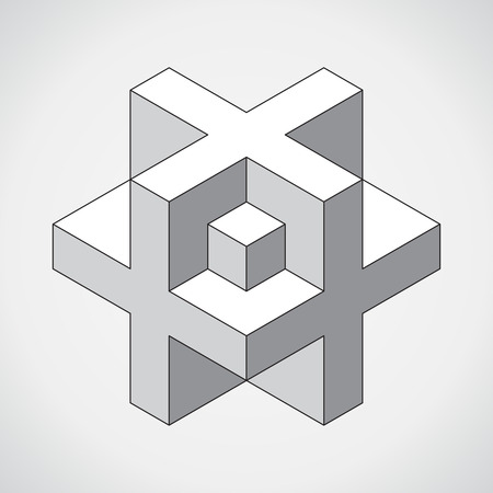 simbolo medicina: 3D cube plus  design. Science, medicine or technological symbol, icon, template