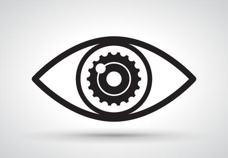 yeux: Gear � l'oeil, vecteur
