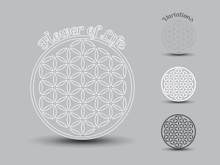 at symbol: Fiore della Vita simbolo, set di Vettoriali