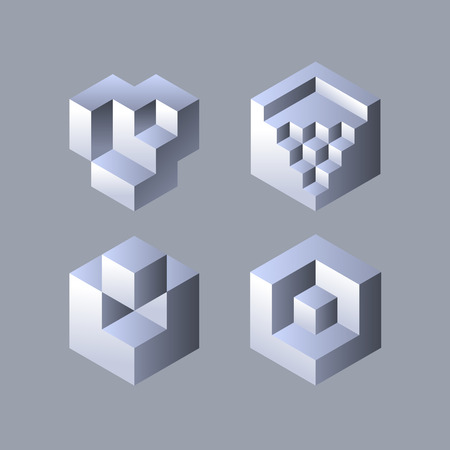 cubic: Set of cubic objects. Vector