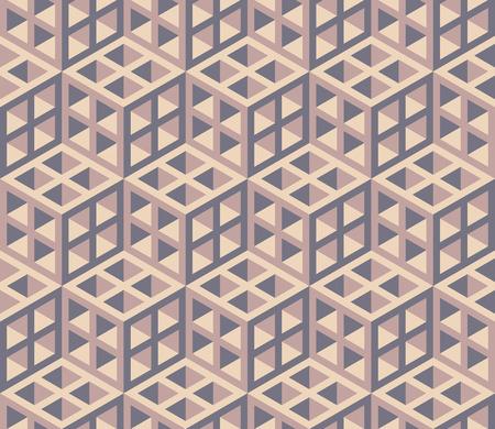 Naadloze isometrisch geometrisch patroon sjabloon - achtergrond. Illustratie