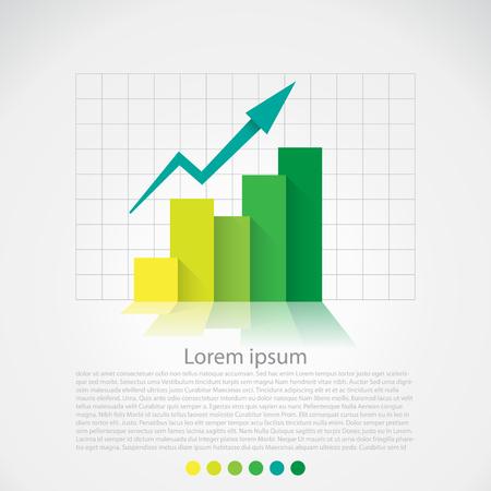フラットなデザインのグラフ、インフォ グラフィック要素。ベクトル