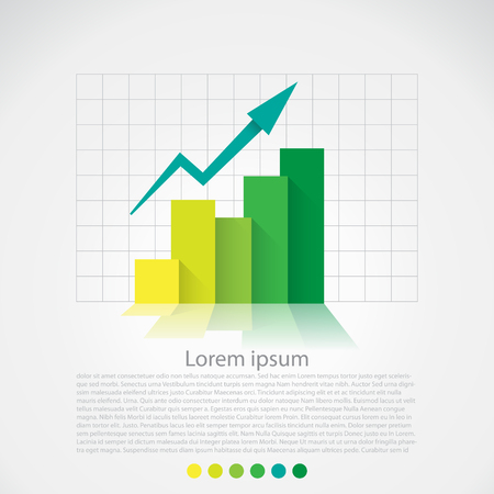 graph report: Flat design chart, infographics elements. Vector
