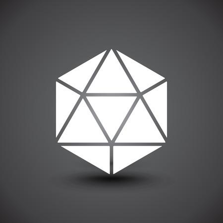 illustartion: 3d Geometric object logotype. Illustartion