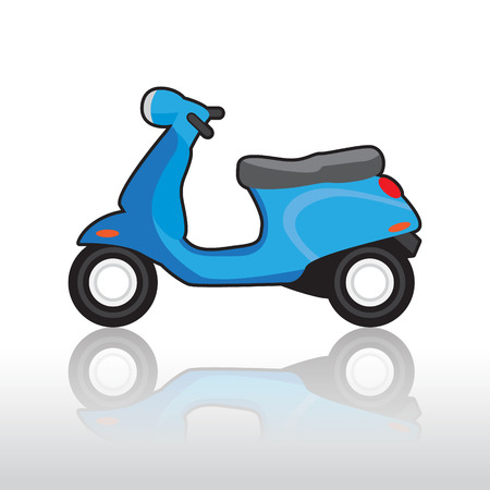 moped: Scooter illustration Illustration