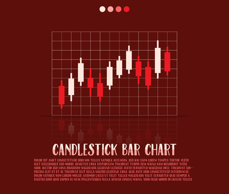 candlestick: Candlestick bars chart, illustration Illustration