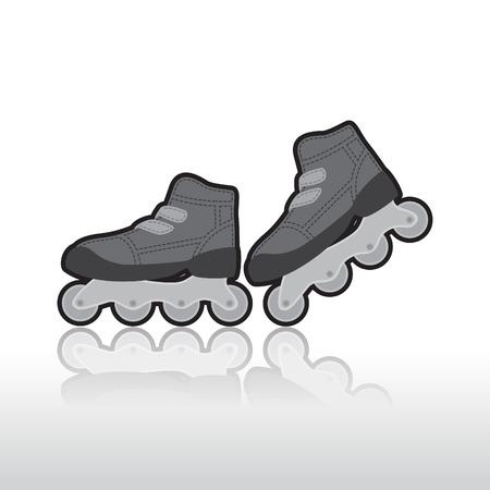 roller skates: Roller skates, isolated illustration