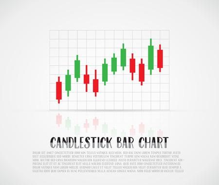 candlestick: Candlestick bars chart, illustration Illustration