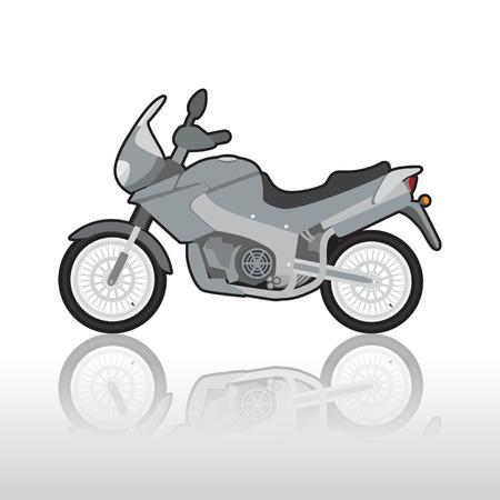chrome man: Sporty motorcycle, illustration Illustration