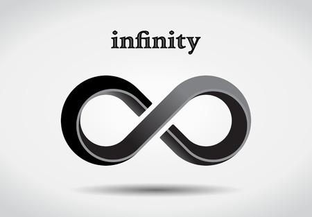 Infinity symbool, logotype Stock Illustratie