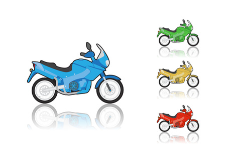 chrome man: Set of sporty motorcycle, illustration Illustration