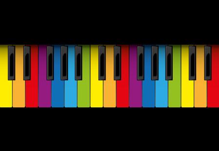 piano roll: Multicolor piano roll, illustration