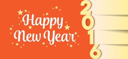 ilustration: 2016 New Year card. Ilustration