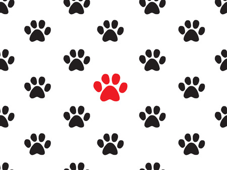 periodical: seamless animal footprint pattern