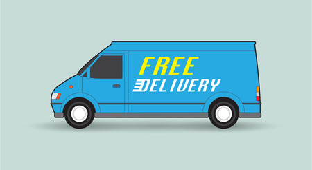 free illustration: Free delivery car, illustration Illustration