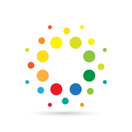 logotype: Dotted icon logotype template background Illustration