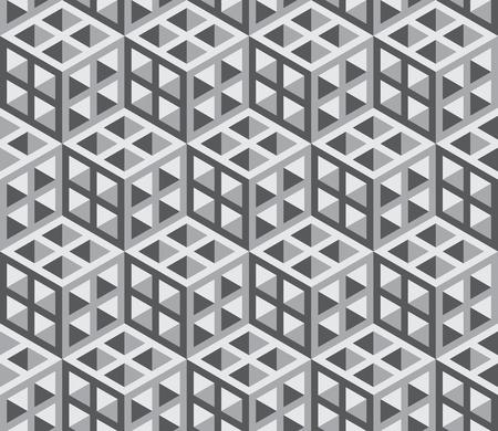 Seamless isometrische geometrische Muster Vorlage - Hintergrund. Veranschaulichung