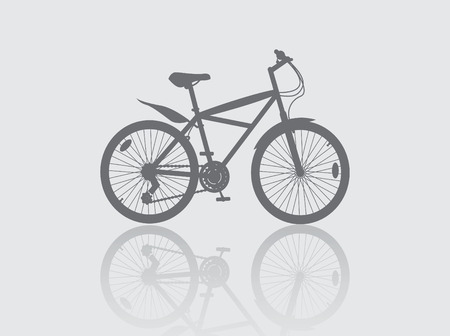 bycicle: Isolated bycicle, silhouette illustration