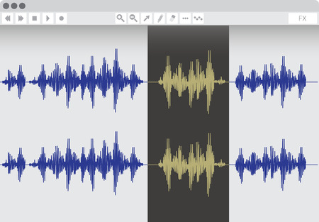 Audio edit software, vector illustration Stock Illustratie