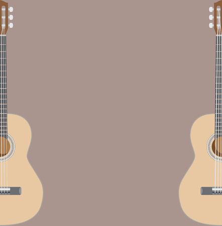 gig: Acoustig guitar theme, suitable for gig or concert poster, vector