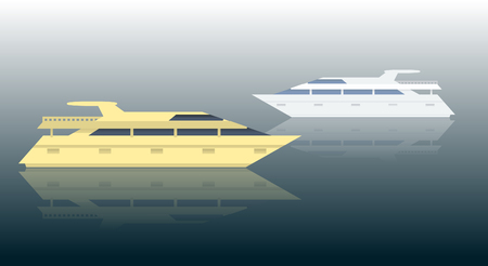 vessel: Illustration of holiday ship. Vector