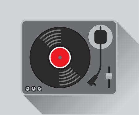 record: vinyl record player. vector illustration