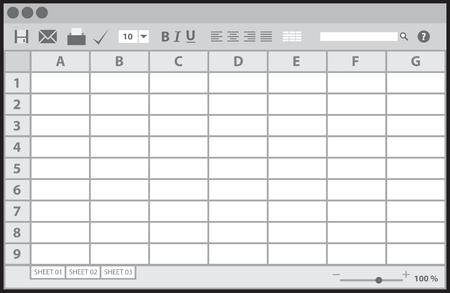 Lege lijst document, vector illustratie