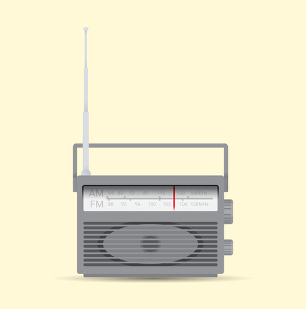 receiver: Isolated radio receiver illustration