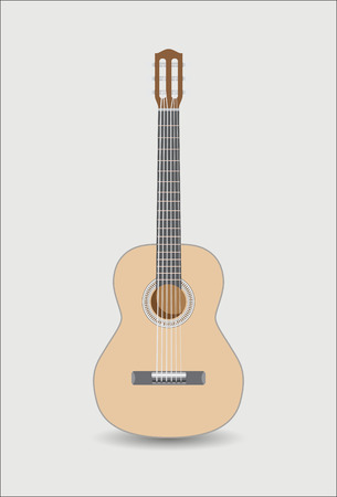 classical: Acoustig guitar, isolated. Vector illustration Illustration