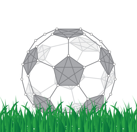fotball: Soccer ball created from dots and lines