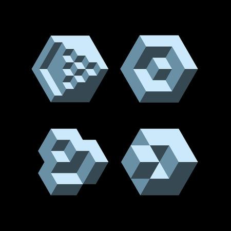 disorganization: Set of cubic objects.