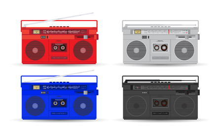 portable player: Magnetic cassette player. Illustration