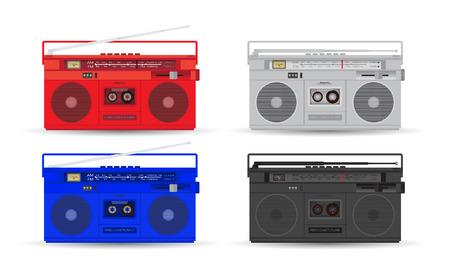 Magnetic cassette player. Illustration
