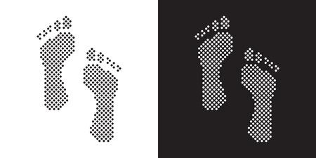 carpet: Set of footprints dotted Illustration