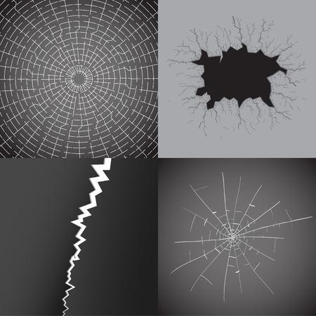 broken glass: Set of broken glass Illustration