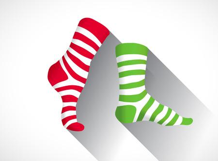 chaussettes Stripped dans un design plat